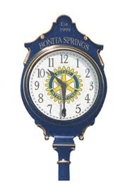 rotary clubs buy clock for city the rotary club of bonita springs