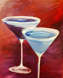 martini glass painting painting gallery live laugh love art