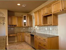 kitchen cabinets wood cabinets home depot light brown