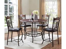five piece dining room sets bernards midland 5 piece metal wood round counter dining table set