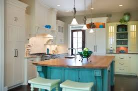turquoise kitchen island 10 ways to color your kitchen cabinets kitchens diy network and