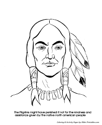 bible printables thanksgiving coloring pages squanto