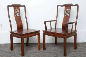 Antique Dining Chairs Set Of Eight Vintage Dining Chairs In The Asian Antique Style At