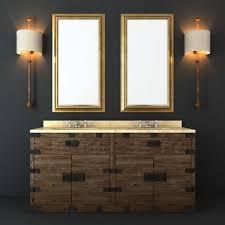 Bathroom Furniture Collection Restoration Hardware Bathroom Furniture Set 3d Model Max Obj Fbx Mtl