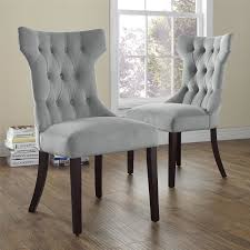 Dining Chairs Grey Tufted Dining Chair