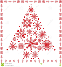 scandinavian style christmas tree shape made out of different