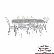 Glass Top Patio Dining Table Aluminum Antique Dining Sets Ebay