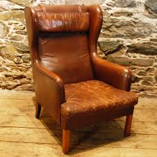 magnificent mid century modern wing chair with additional small
