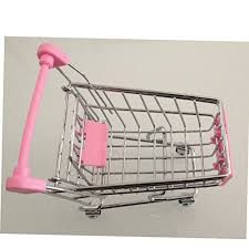mini shopping cart desktop storage basket organizer home