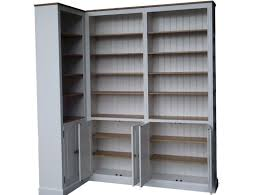 furniture appealing white corner bookshelf with interior potted