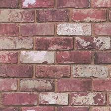 fresco wallpaper red brick wall at wilko com