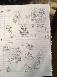 this old notebook is filled with the earliest drawings of