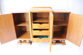 English Oak Sideboard An Art Deco English Oak Sideboard Sideboards Antique