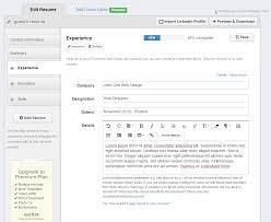 Linkedin Labs Resume Builder Top 10 Free Resume Builder Reviews Jobscan Blog Linkedin Add