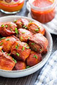 bbq bacon wrapped meatballs paleo whole30 the paleo running momma