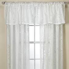 Sheer Curtains With Valance Branchbrook Sheer Window Curtain Panel And Valance Bed Bath Beyond