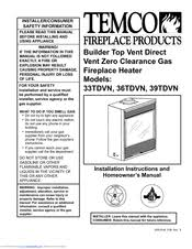 Fireplace Installation Instructions by Temco 36tdvn Manuals