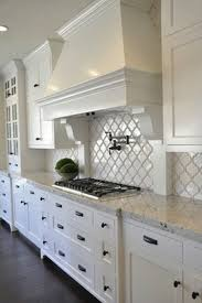 wood countertops kitchen designs with white cabinets lighting