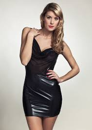 patrice catanzaro safia lacquer see through dress sheer n