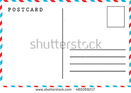 back airmail blank postcard template stock photo 460269217