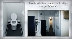 Commercial Bathroom Door Bathroom Trailer Rental The Commercial Trailer Restroom Trailer