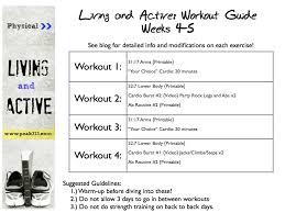 free workout schedule printable workout routine gse bookbinder co