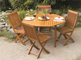 Folding Patio Chairs With Arms Endearing Folding Outdoor Table And Chairs With 5 Piece Set Teak