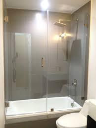bathtub doors trackless sliding shower doors bathtub doors