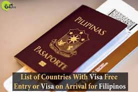 lexus visa application list of countries with visa free entry or visa on arrival for