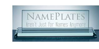 etched glass desk name plates nameplates engraved desk nameplate