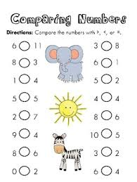 free worksheets comparing numbers kindergarten free math