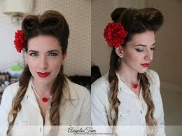 hair and makeup vintage los angeles victory rolls hair style rockabilly pinup girls makeup