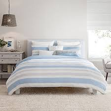 Blue White Gray Bedroom Real Simple Mikayla Reversible Duvet Cover In Blue White Grey