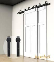 Closet Barn Doors 4ft 16ft Sliding Barn Door Hardware Kit Closet Rail Roller Set
