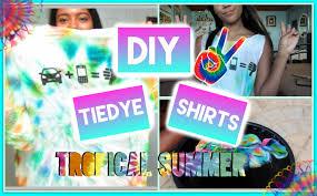 diy summer tie dye shirt w food coloring youtube