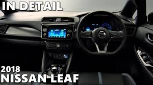 nissan leaf apple carplay new 2018 nissan leaf exterior u0026 interior detailed look youtube