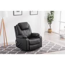 homcom pvc leather recliner and ottoman set cream homcom synthetic leather vibrating massage recliner tv game chair