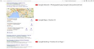 google quote for the day on page seo for photographers getting to page 1 of google