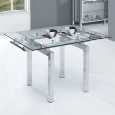 expandable glass dining room tables extendable dining table glass