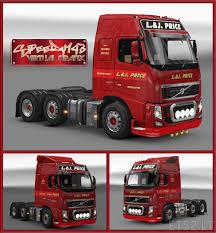 truck volvo price l u0026j price skin for volvo fh classic by peerke ets 2 mods