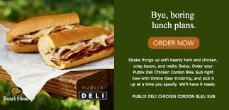 need lunch order your publix sub