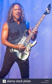 Kirk Hammett Chicago Illinois Usa 1st Aug 2015 Guitarist Kirk Hammett Of