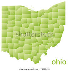 ohio on the map of usa ohio map stock images royalty free images vectors