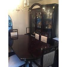elegant italian lacquer 8 piece dining room set aptdeco