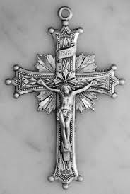 rosary crucifixes no 7749 sterling silver crucifix size 2 1 4 rosary parts