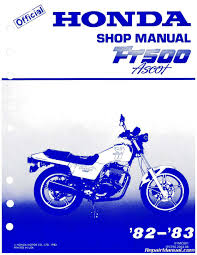 1982 u2013 1983 honda ft500 ascot motorcycle service manual 800 426