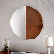 tree ring coffee table tree ring wall mirror west elm