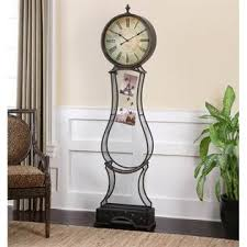 Uttermost Clocks Uttermost Metal Standing Clock Home Home Decor Decorative