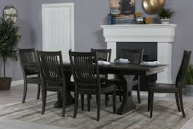 living spaces dining table set artistic valencia 72 inch extension trestle dining table living