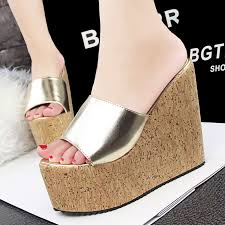 slippers with heels wedge is heel